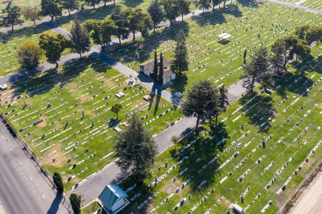 winton cemetery from above